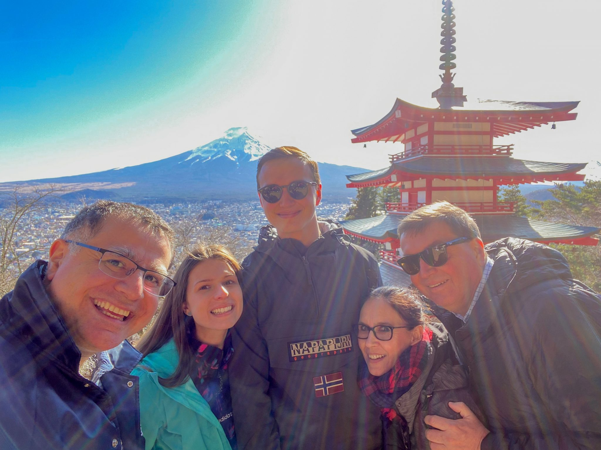 Chureito Pagoda and Mt Fuji on a Maction Planet Tokyo Private Tour