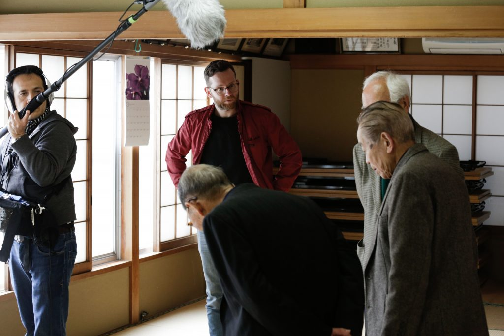 Crew on set 1 - Paper City Film about the Tokyo Firebombing