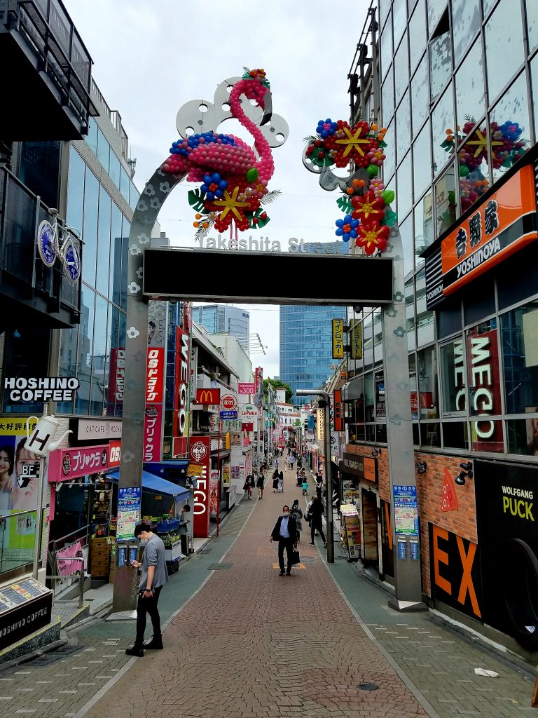 Takeshita Dori in Harajuku on Saturday 9 May 2020