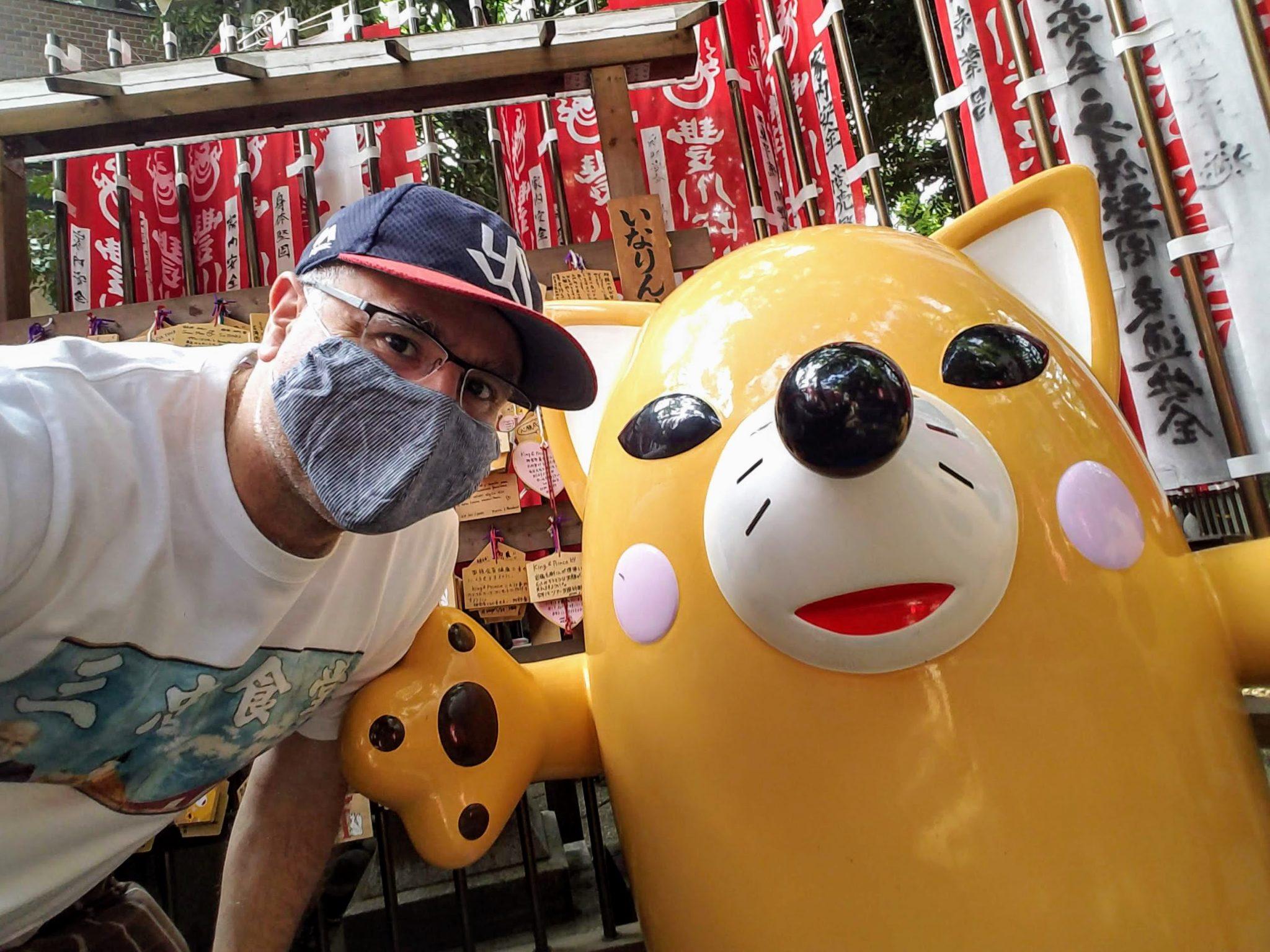 Inarin, the mascot of Toyokoawa Inari Tokyo Betsuin in Akasaka, Tokyo