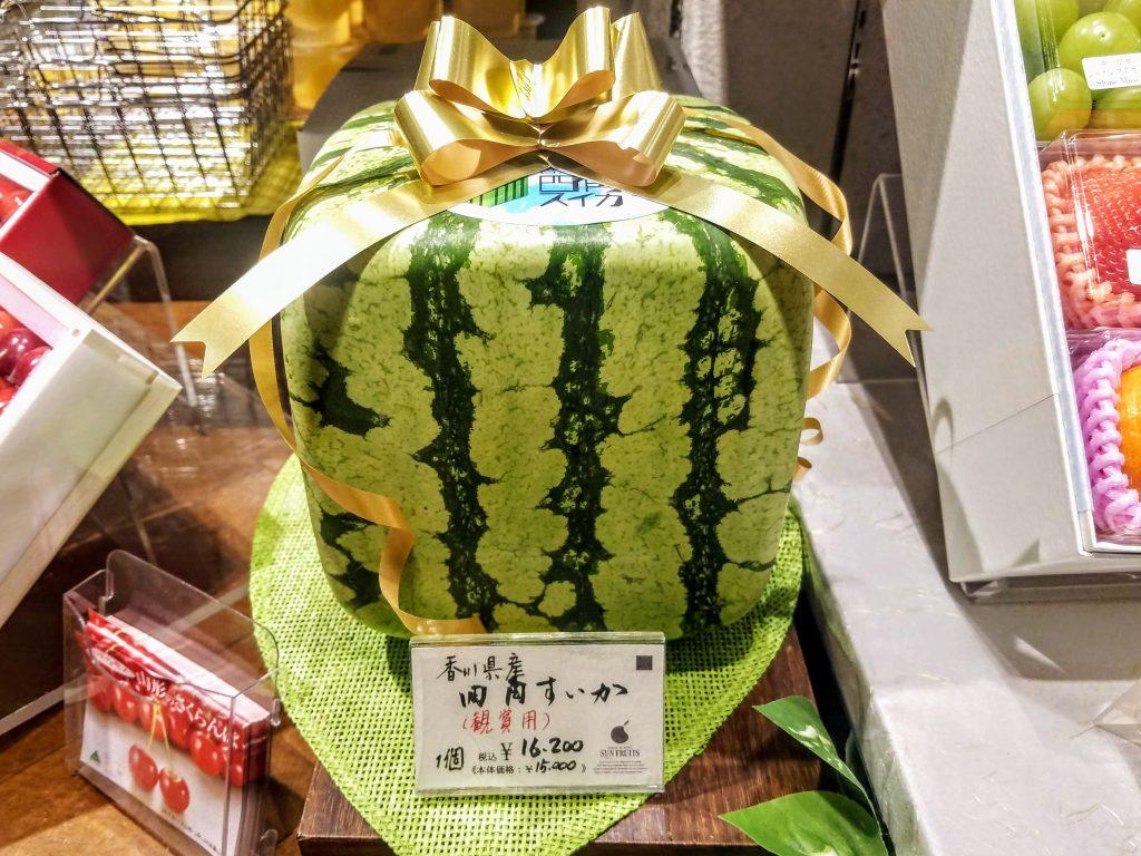 Square Watermelon at Mitsukoshi