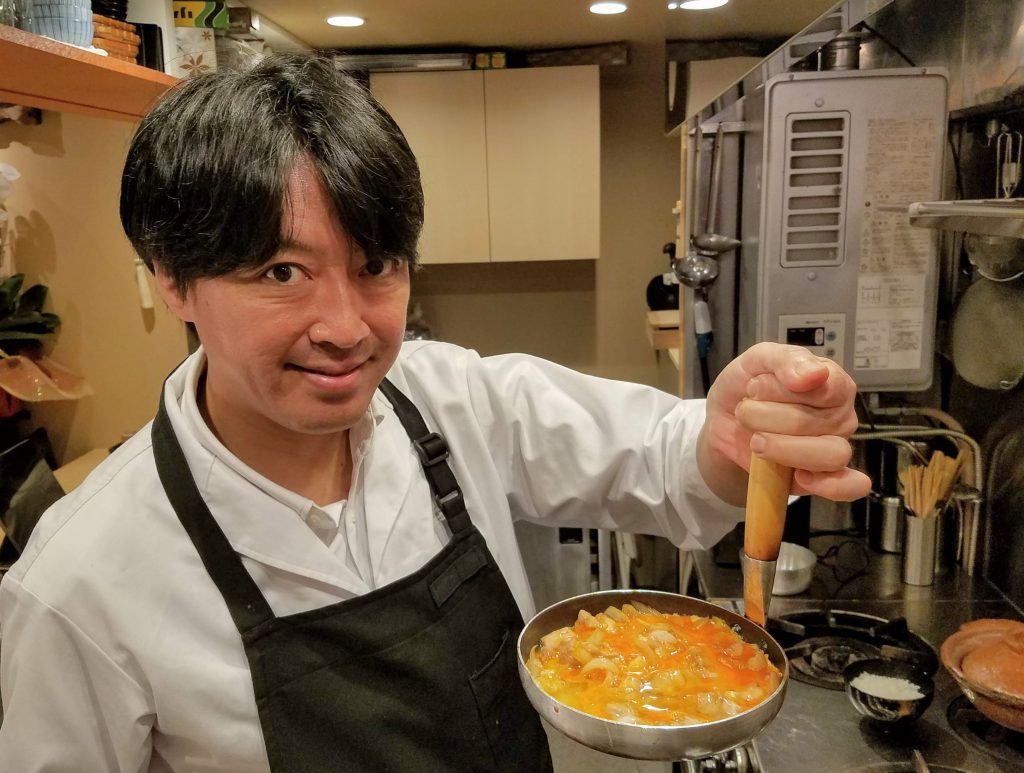 Chef Koji Kawaguchi from Tokyo restaurant Yotaro and Hinokicho Lab and Mac, Founder and Lead Guide of Maction Planet