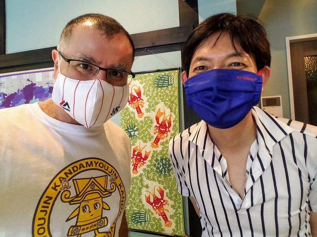 Tokyo Yakult Swallows and FC Tokyo Masks