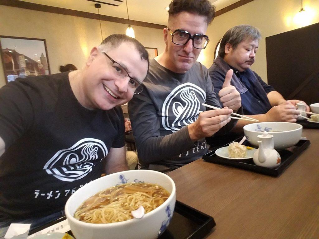 Mac, Brian MacDuckston and Yamamoto-san, three of Japan's top ramen nerds