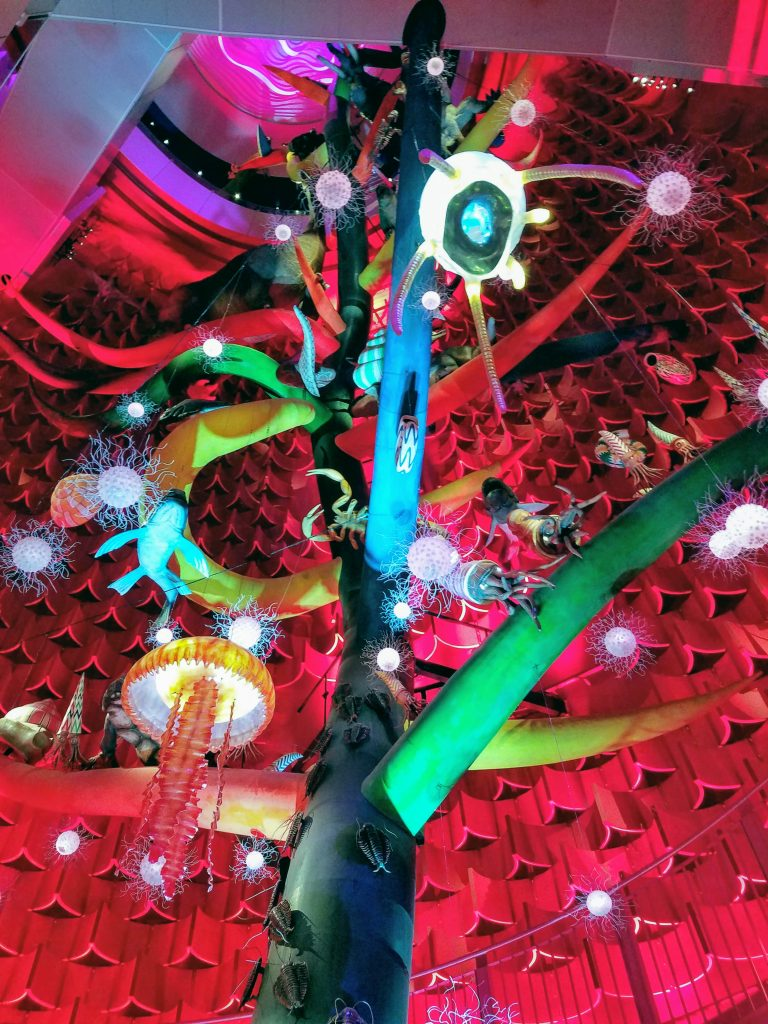 The insides of the Tower of the Sun, Taro Okamoto's masterpiece from Expo '70: The Tree of Life