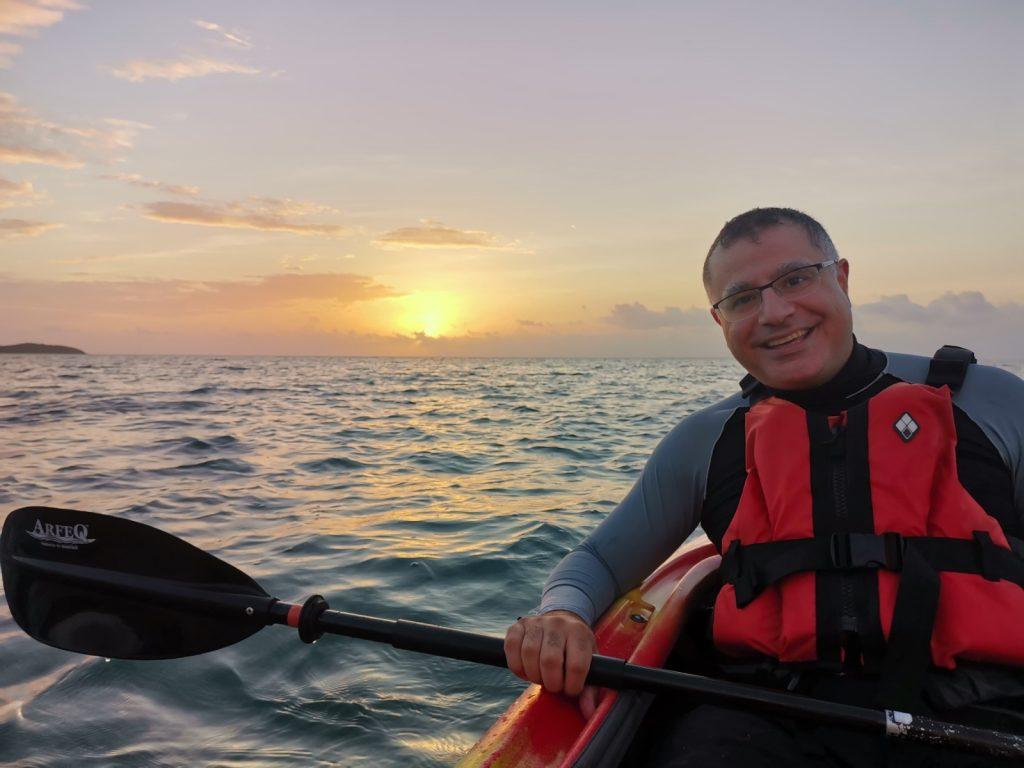 Sunrise canoeing in Iriomote Island