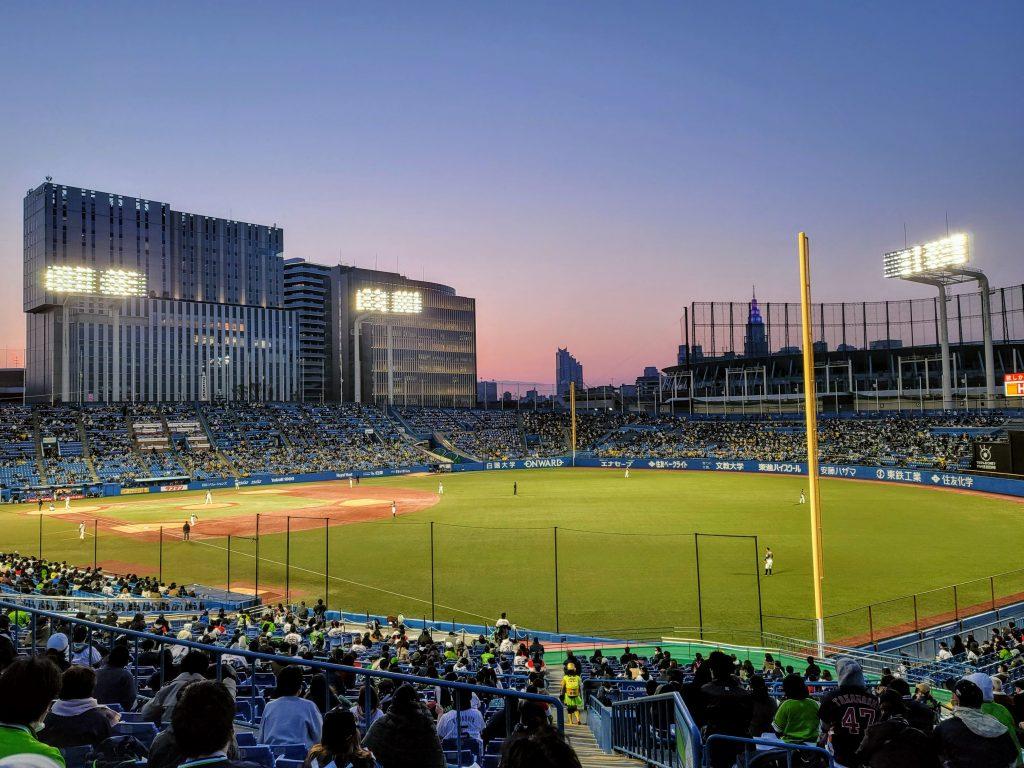 Meiji Jingu Baseball Stadium on Friday 26 March 2021