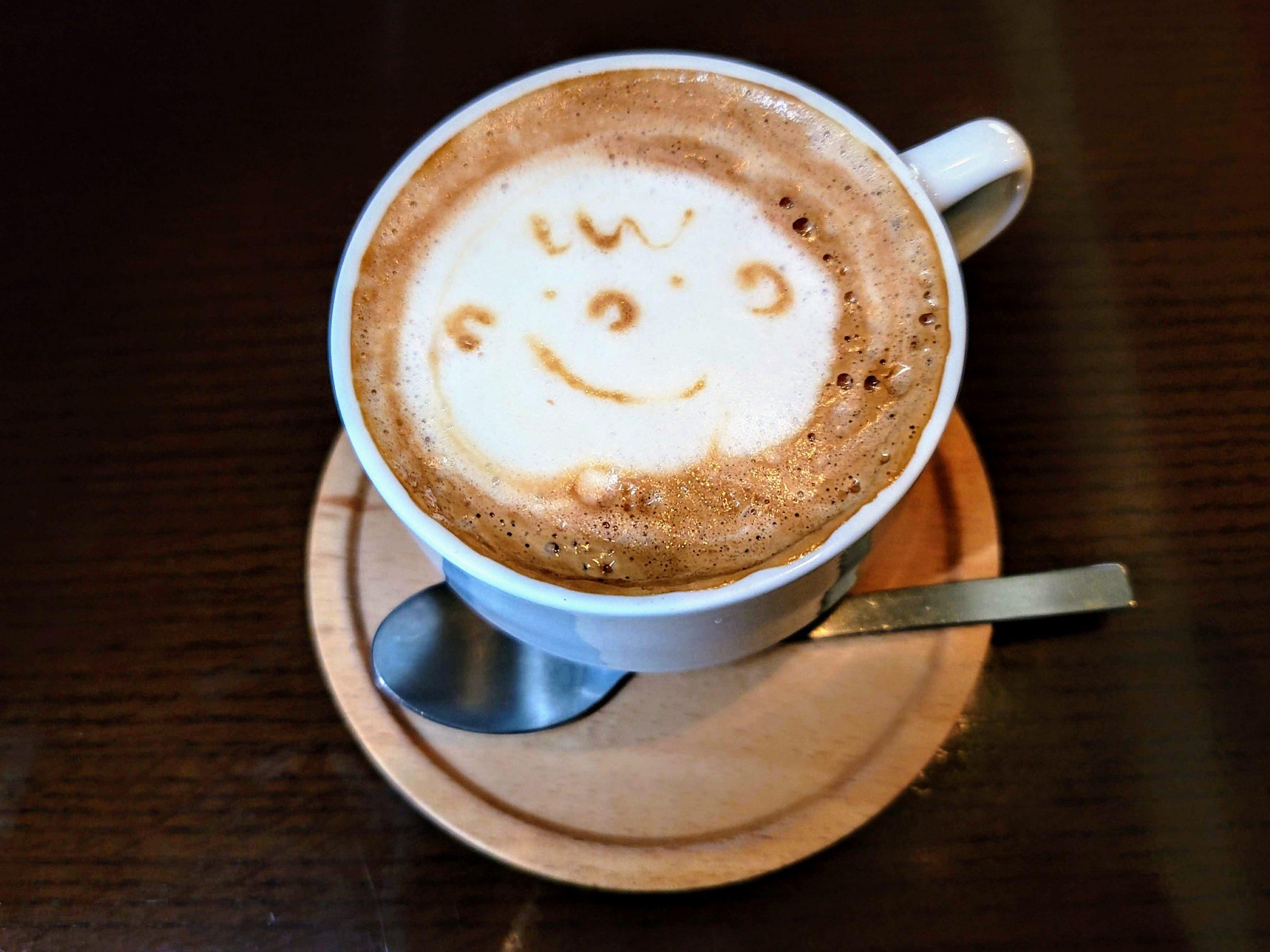 Latte Art from Analog Cafe in Ebisu