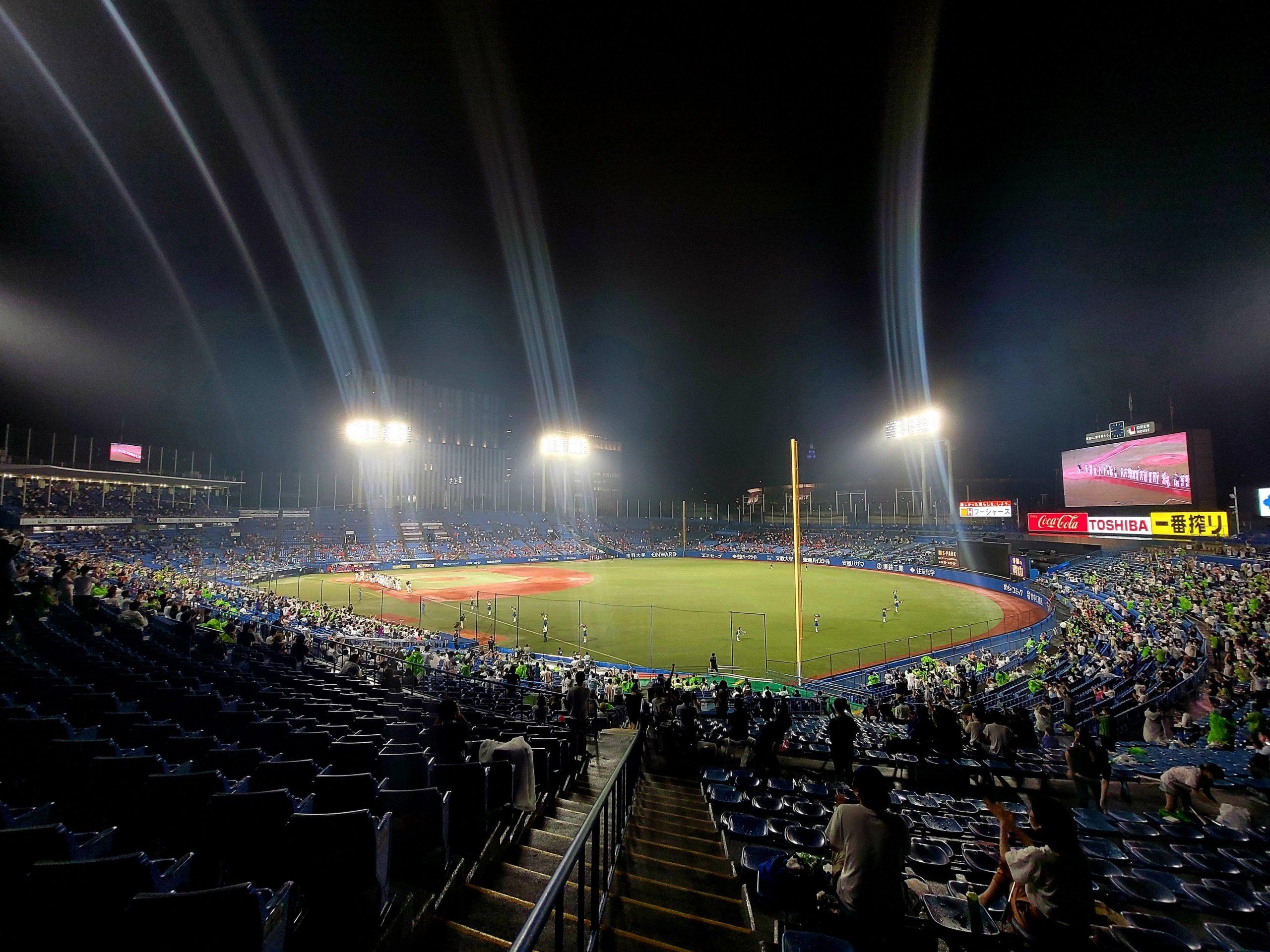 Meiji Jingu Stadium on 9 July 2021
