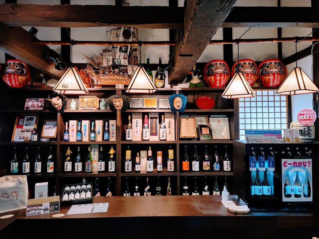 Obata Shuzo Manotsuru shop on Sado Island
