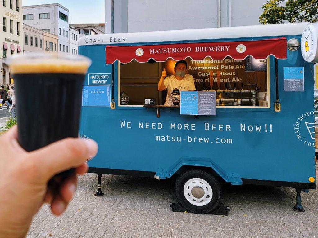 Matsumoto Brewery Beer Truck in Matsumoto