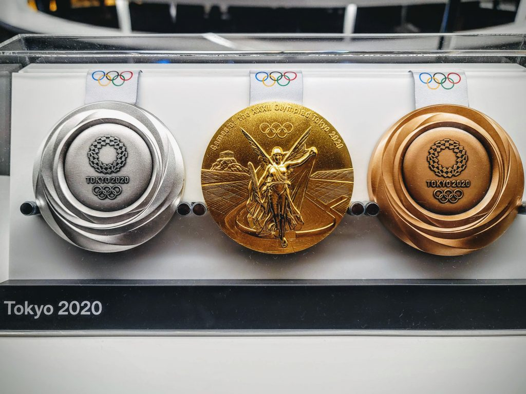 Tokyo 2020 medal at Olympic Spirit exhibition in Tokyo