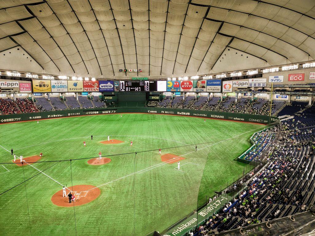Tokyo Yakult Swallows at home at the Tokyo Dome vs the Hiroshima Toyo Carp on 3 September 2021